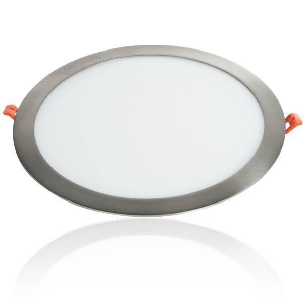 LED Panel Einbaustrahler silber 24W Ø300mm 5500K