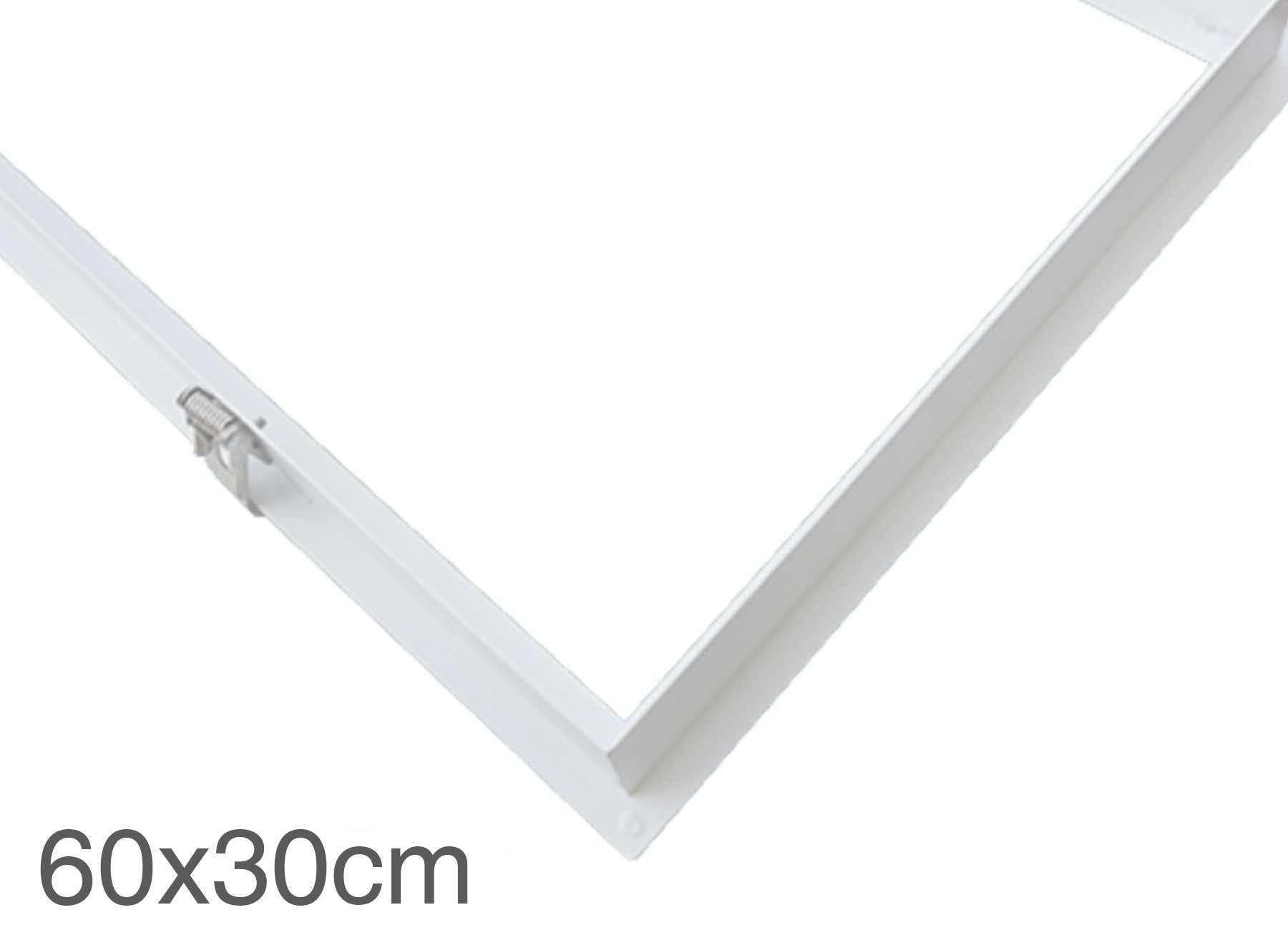 LED Panel Einbaurahmen 30x60cm weiß Deckeneinbau Montagerahmen für Rigipskartondecke