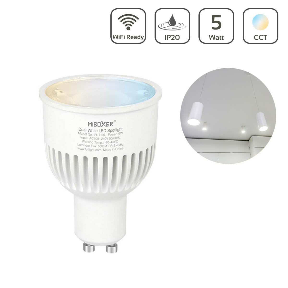 MiBoxer CCT LED Spot 6W GU10 | Wifi ready | FUT107