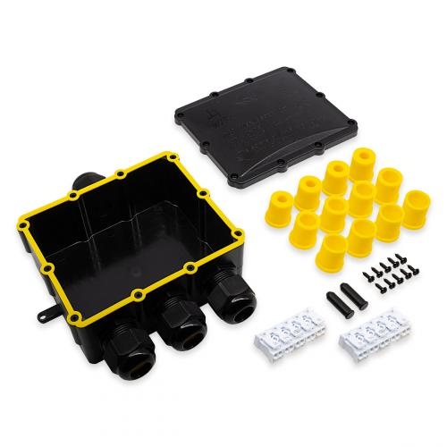 Verbindungsbox XXL groß 4-fach 5-polig IP68 wasserdicht 24A 450V