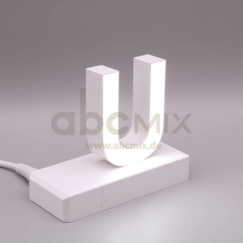 Leuchtbuchstabe EasyClick U 75mm Arial 4000K weiß