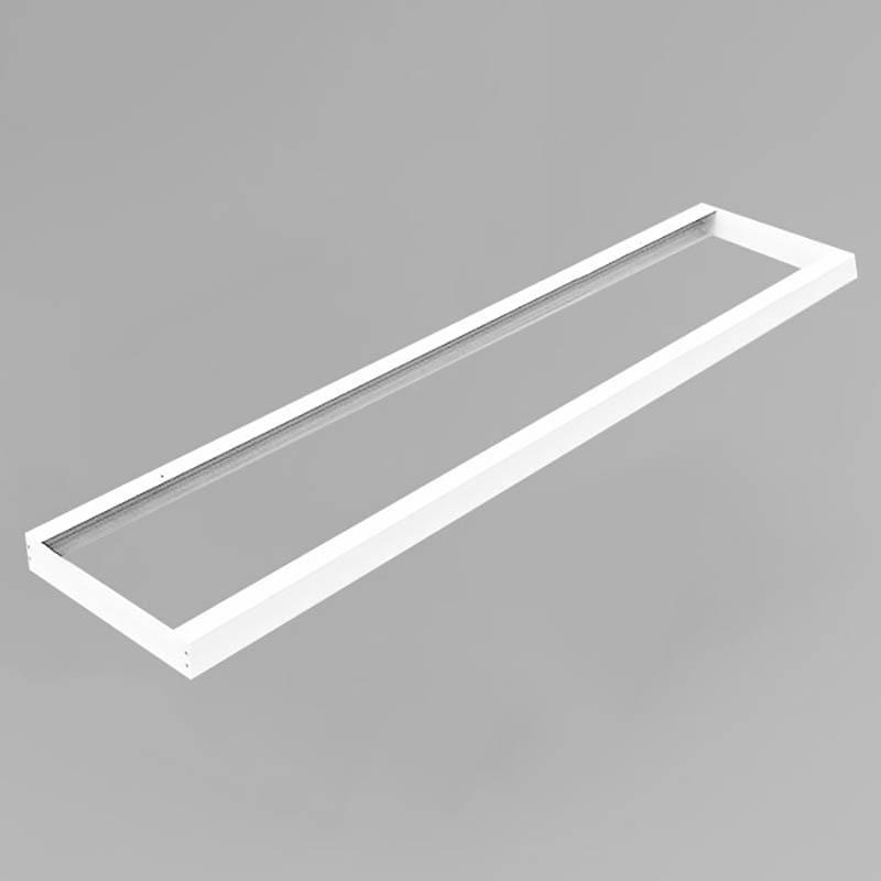 LED Panel Aufbaurahmen Classic 160x40cm weiß Aufputz Montagerahmen