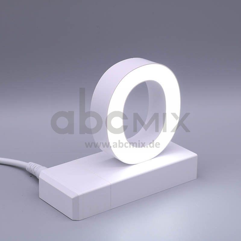 LED Buchstabe Klick O 75mm Arial 6500K weiß