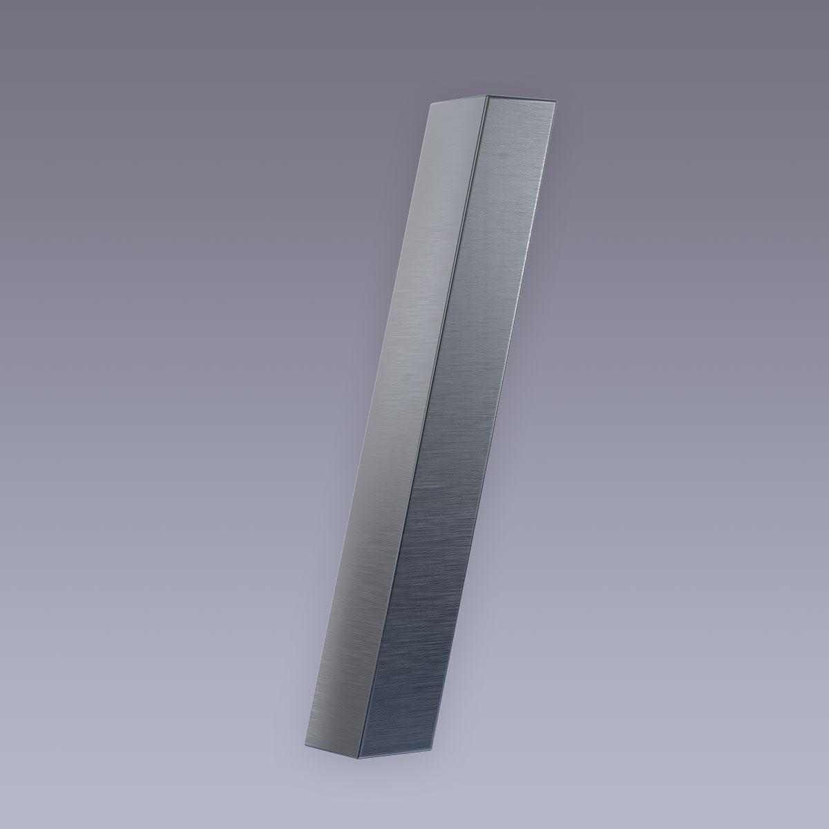 3D Hausnummer / Querstrich Edelstahl anthrazit RAL7016 in 3D Design Arial