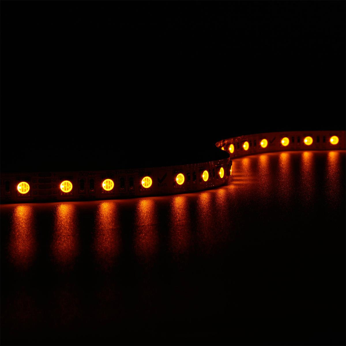 LED RGBA Strip SMD5050 Amber Bernstein  DC 24V 15W/m IP20 60 LED/m 5m
