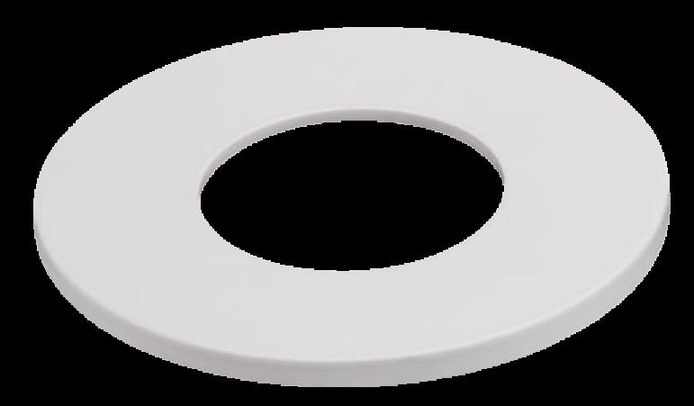 Klemmring Alu weiß rund Ø83mm