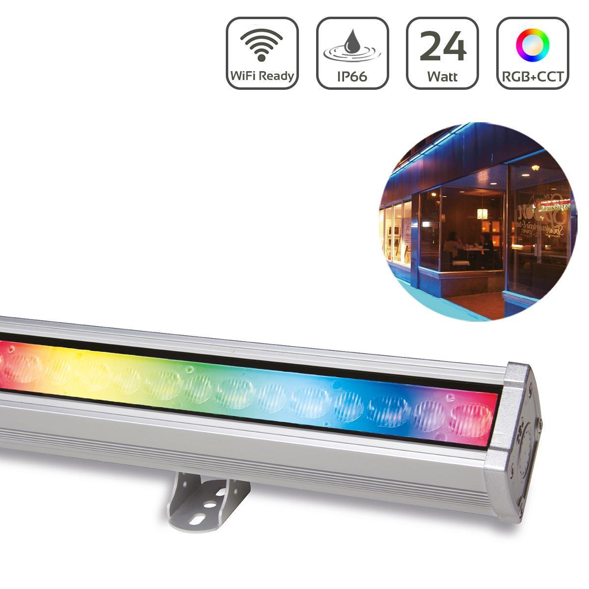 MiBoxer 24W RGB+CCT LED Wallwasher 50cm WiFi Fassadenstrahler 230V IP66 RL3-24