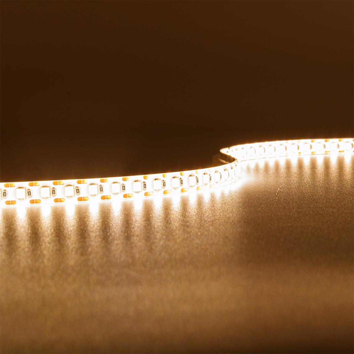 Single Cut Warmweiß 24V LED Streifen 5M 15W/m 120LED/m 8mm IP65 3000K