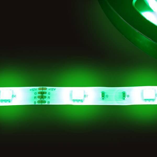 Strip RGB 12V LED Streifen 5M 7,2W/m 30LED/m 10mm IP65 Farbwechsel