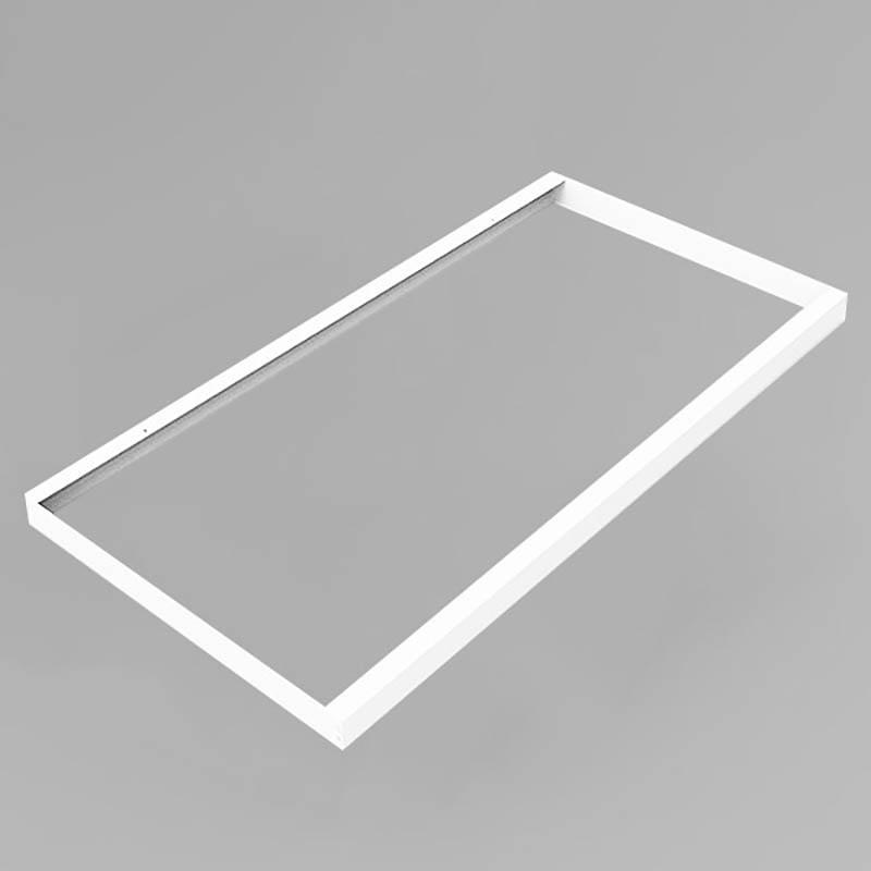 LED Panel Aufbaurahmen Classic 120x60cm weiß Aufputz Montagerahmen