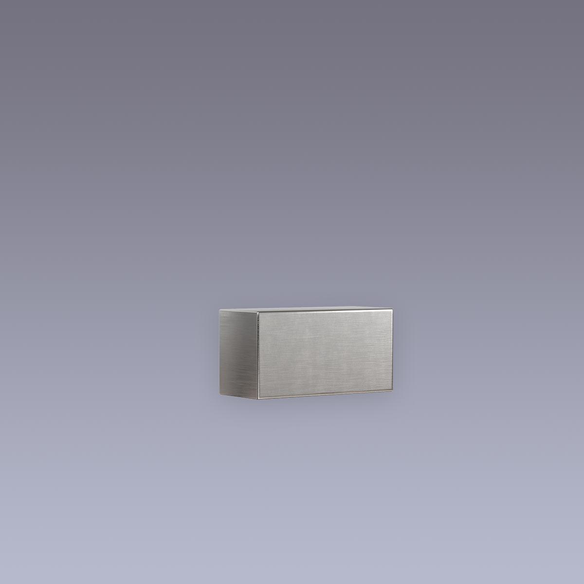 3D Hausnummer - Bindestrich Edelstahl in 3D Design Arial V2A