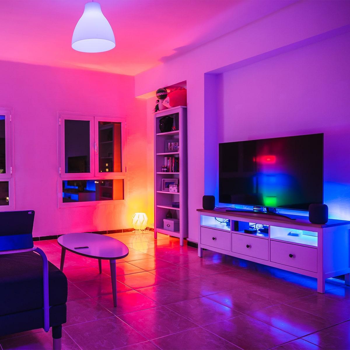 COB RGB 24V LED Streifen 5M 10W/m 840LED/m IP20 Farbwechsel