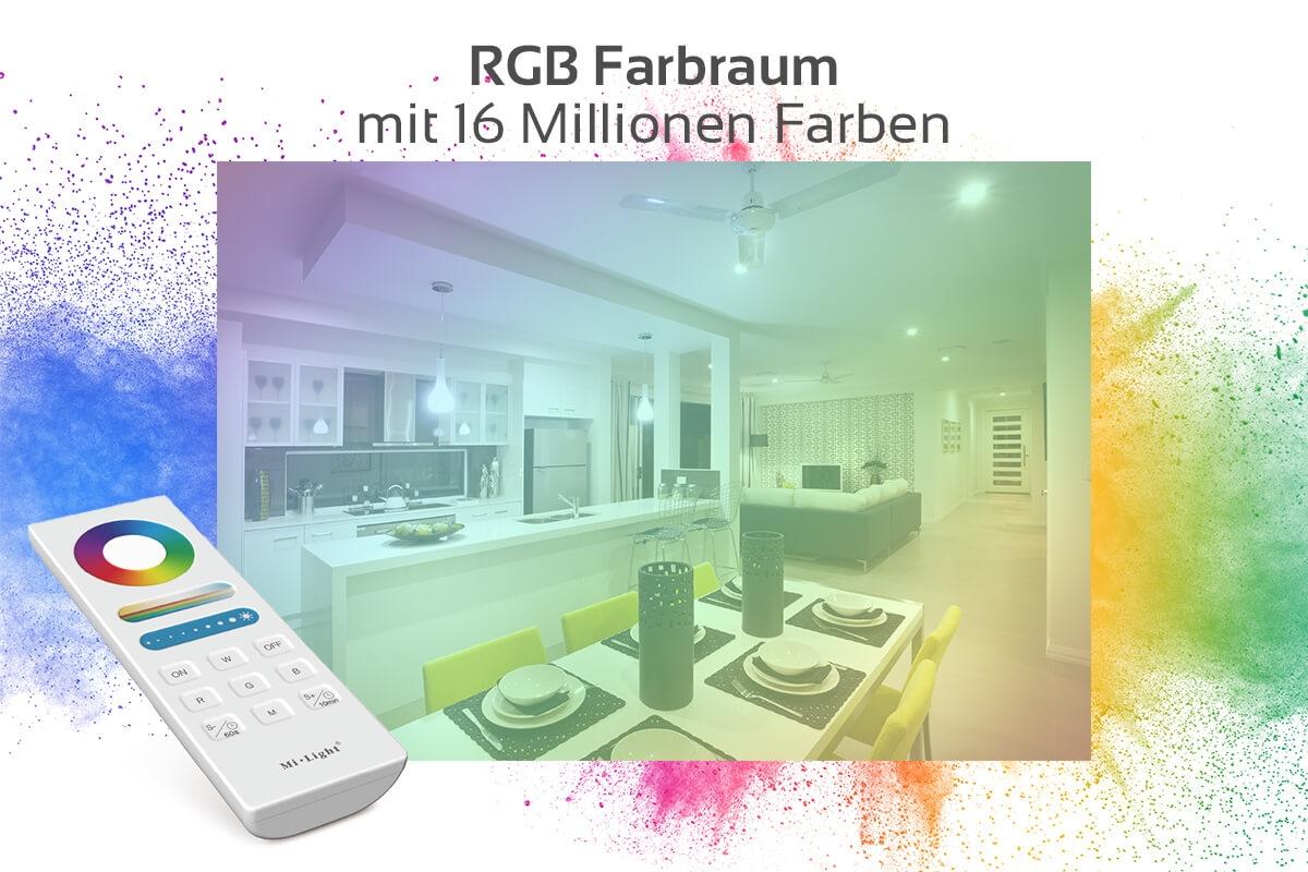 MiBoxer Set Controller & Fernbedienung RGB+CCT | WiFi ready | Dimmen Schalten Farbsteuerung