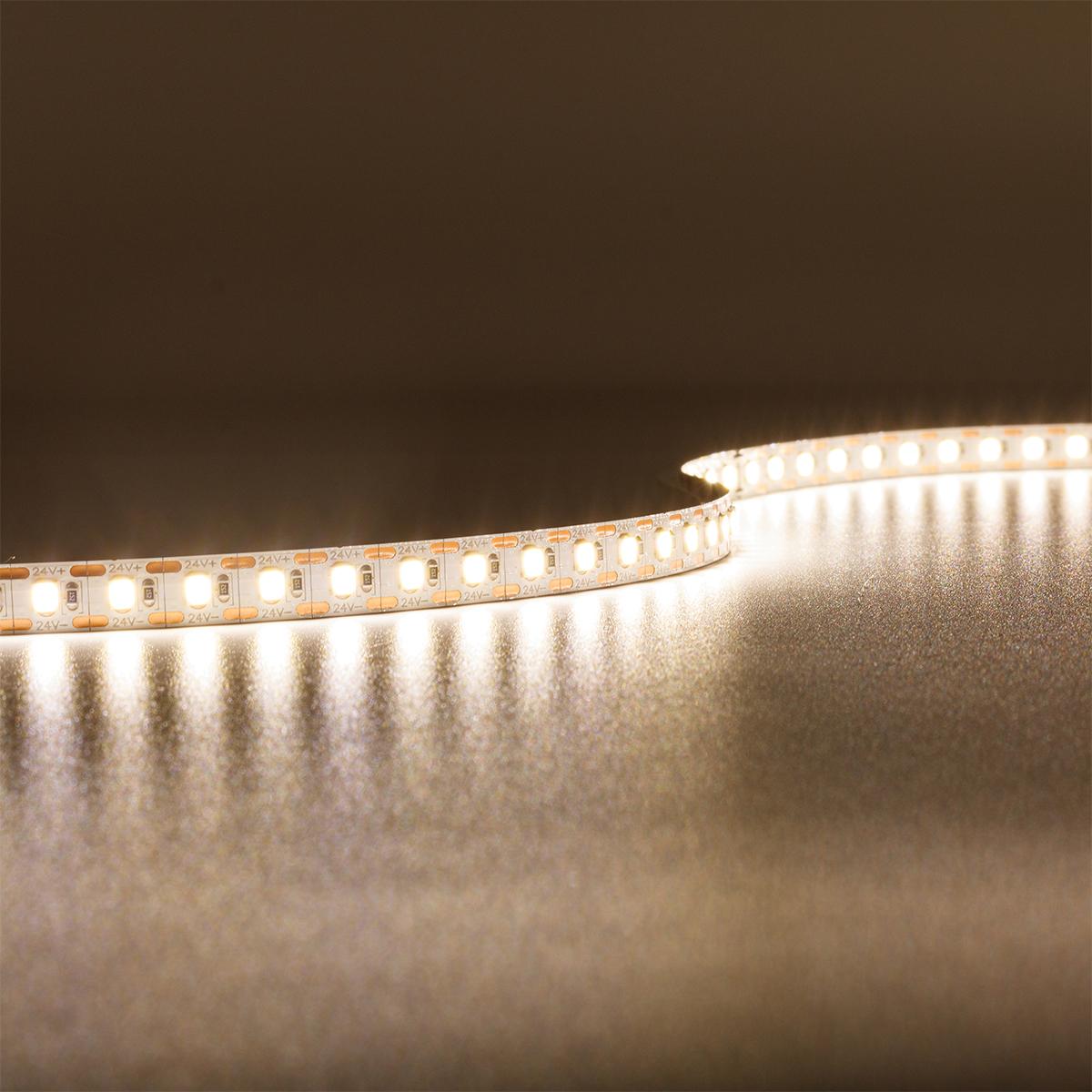 Single Cut Neutralweiß 24V LED Streifen 5M 15W/m 120LED/m 8mm IP20 4000K