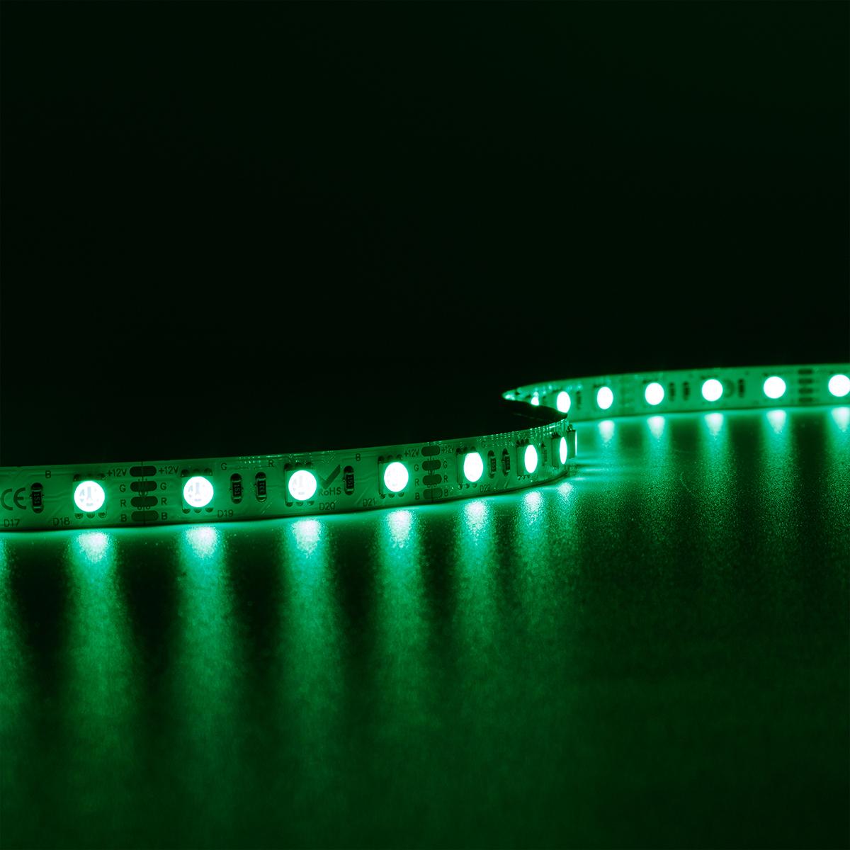 Strip RGB 12V LED Streifen 5M 14,4W/m 60LED/m 10mm IP20 Farbwechsel