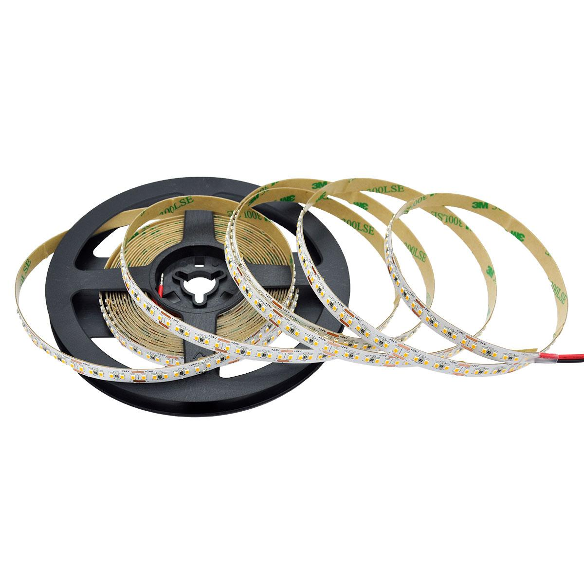 Strip Warmweiß 24V CRI90 LED Streifen 5M 12W/m 240LED/m 8mm IP65 3000K
