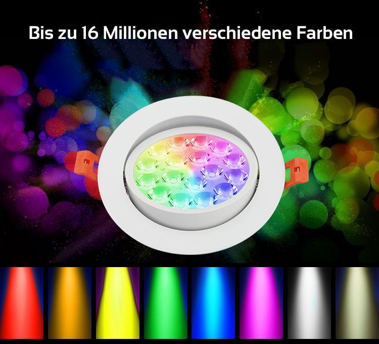 MiBoxer 9W LED Einbaustrahler RGB+CCT Ø135mm WiFiready