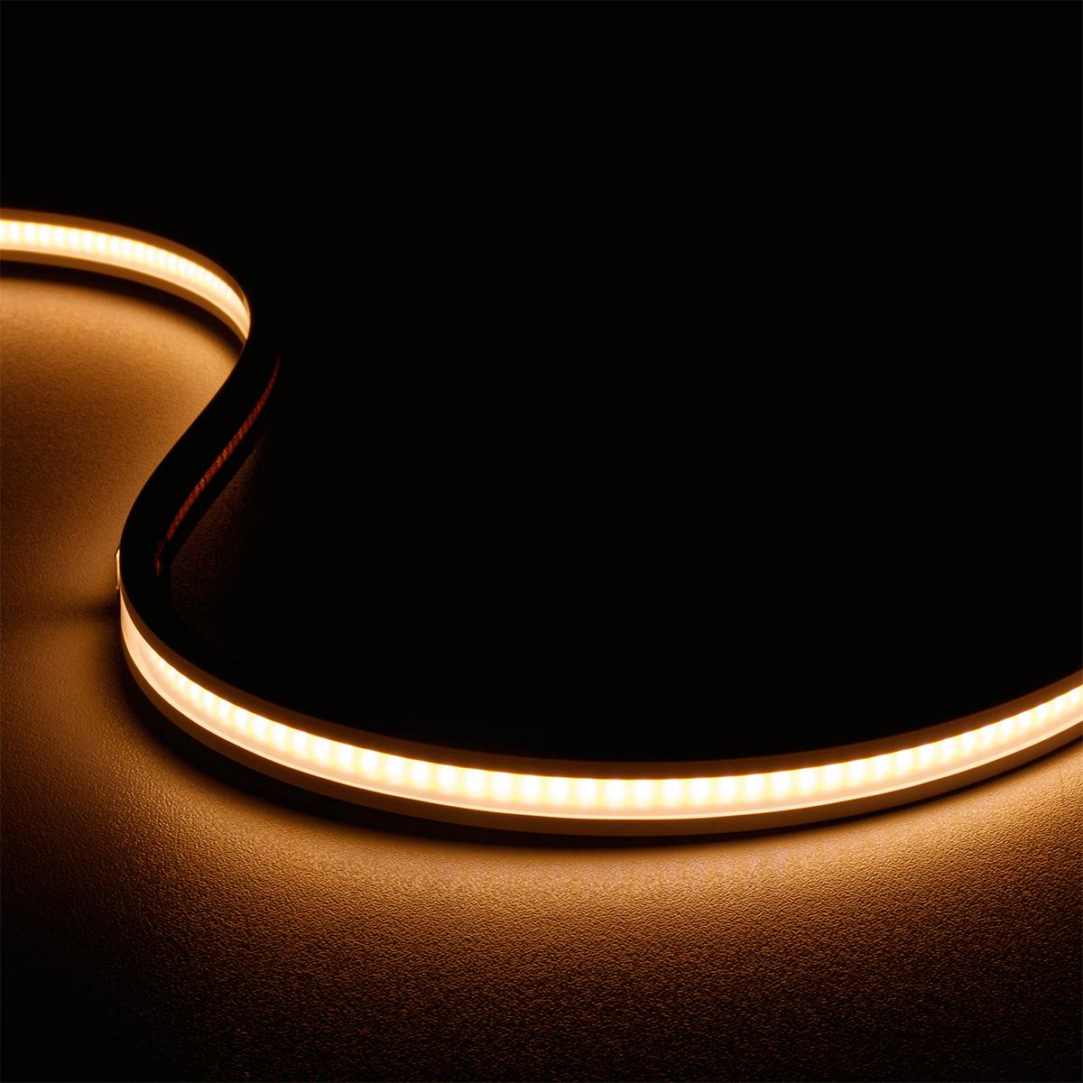 COB Warmweiß 24V LED Streifen 5M 7,7W/m 336LED/m IP67 3000K