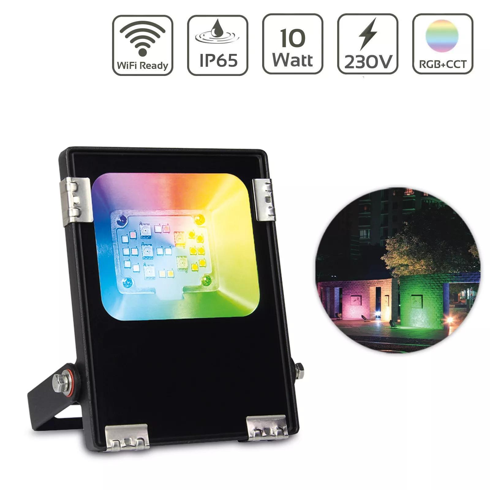 MiBoxer 10W RGB+CCT LED Außenstrahler WiFi Farbwechsel Fluter FUTT05