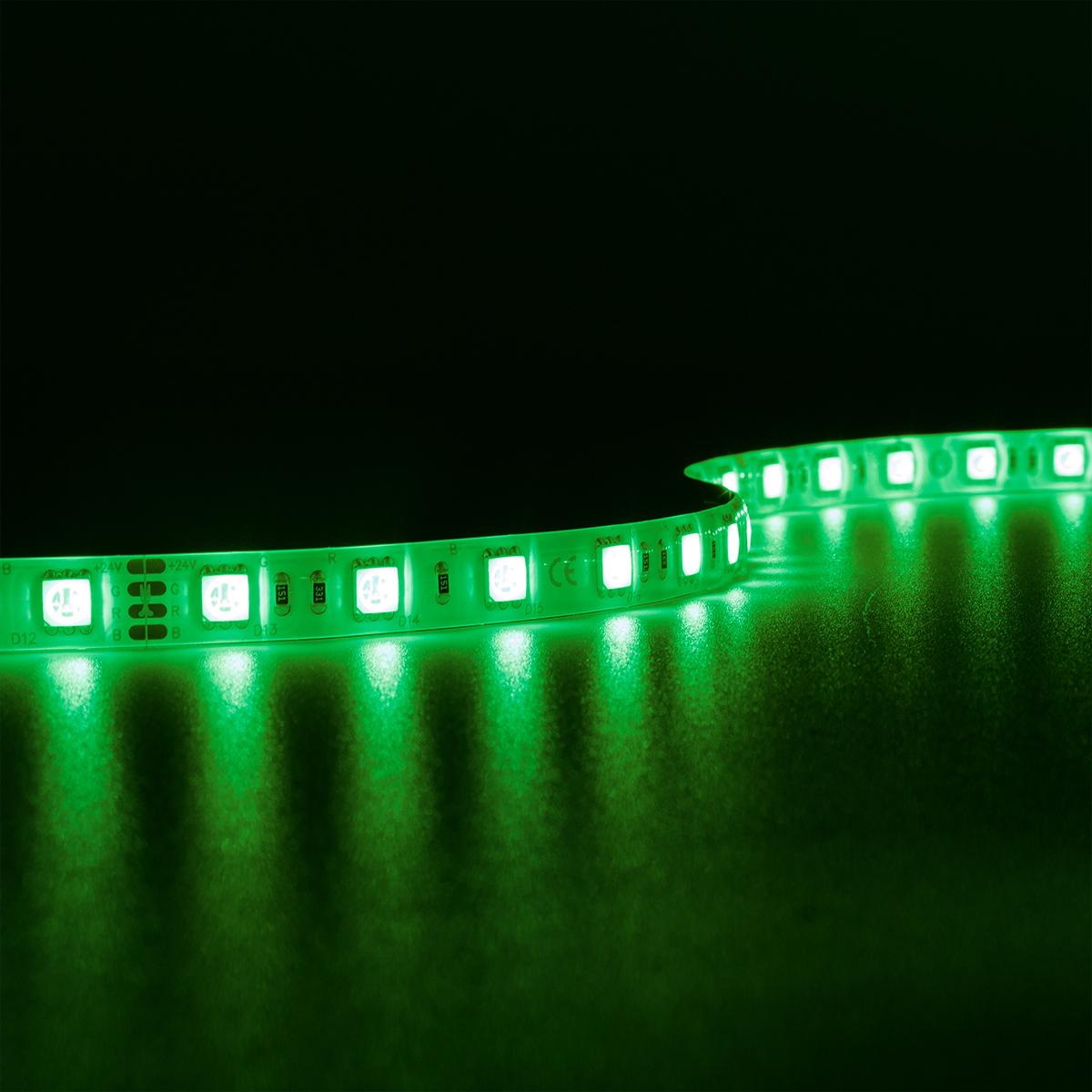 Strip RGB 24V LED Streifen 7,5M 14,4W/m 60LED/m 10mm IP65 Farbwechsel