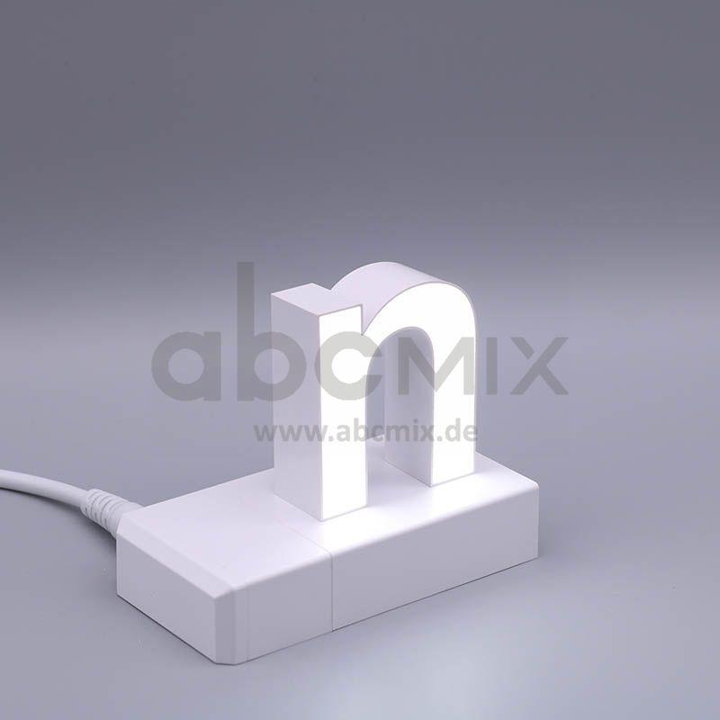 LED Buchstabe Klick n für 75mm Arial 6500K weiß