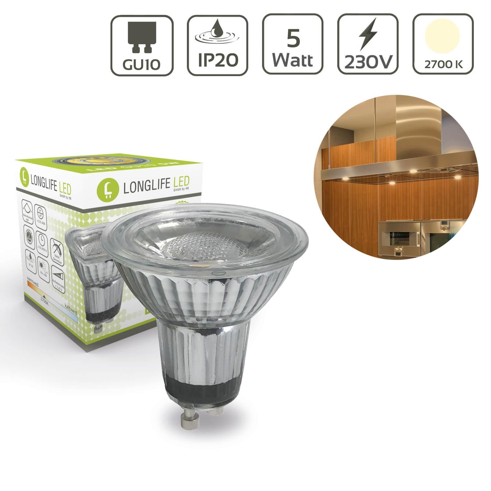 LED Spot GU10 5W 2700K 440lm 40°