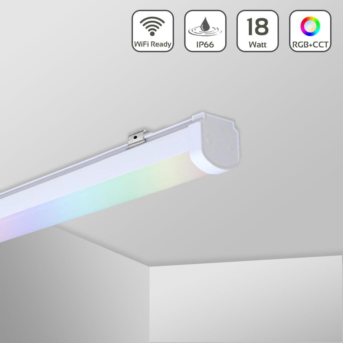 MiBoxer 18W RGB+CCT LED Linear Light WiFi Feuchtraumleuchte 230V IP66 LL-1018
