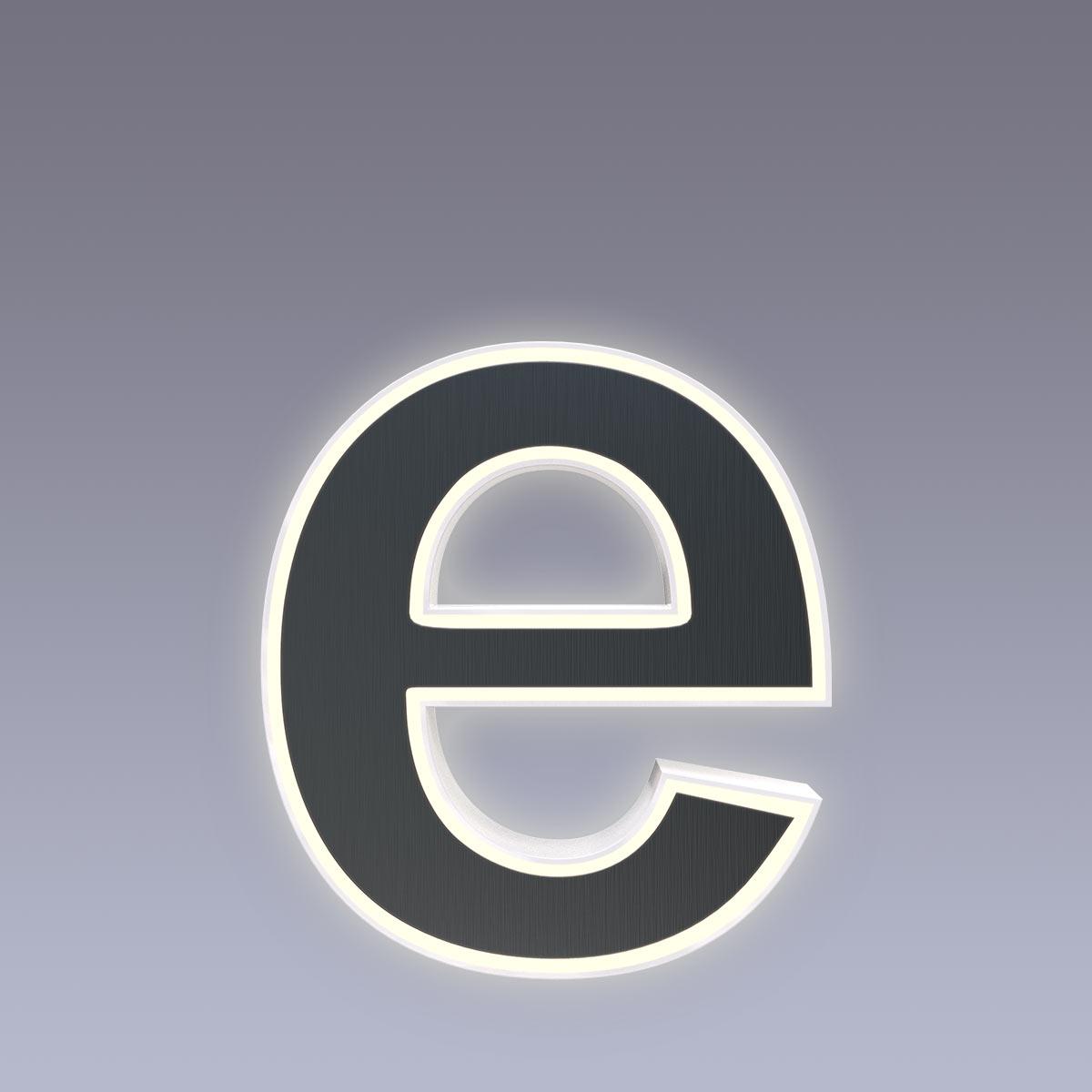 Cover für 15cm Hausnummer e Edelstahl anthrazit RAL7016 Arial selbstklebend