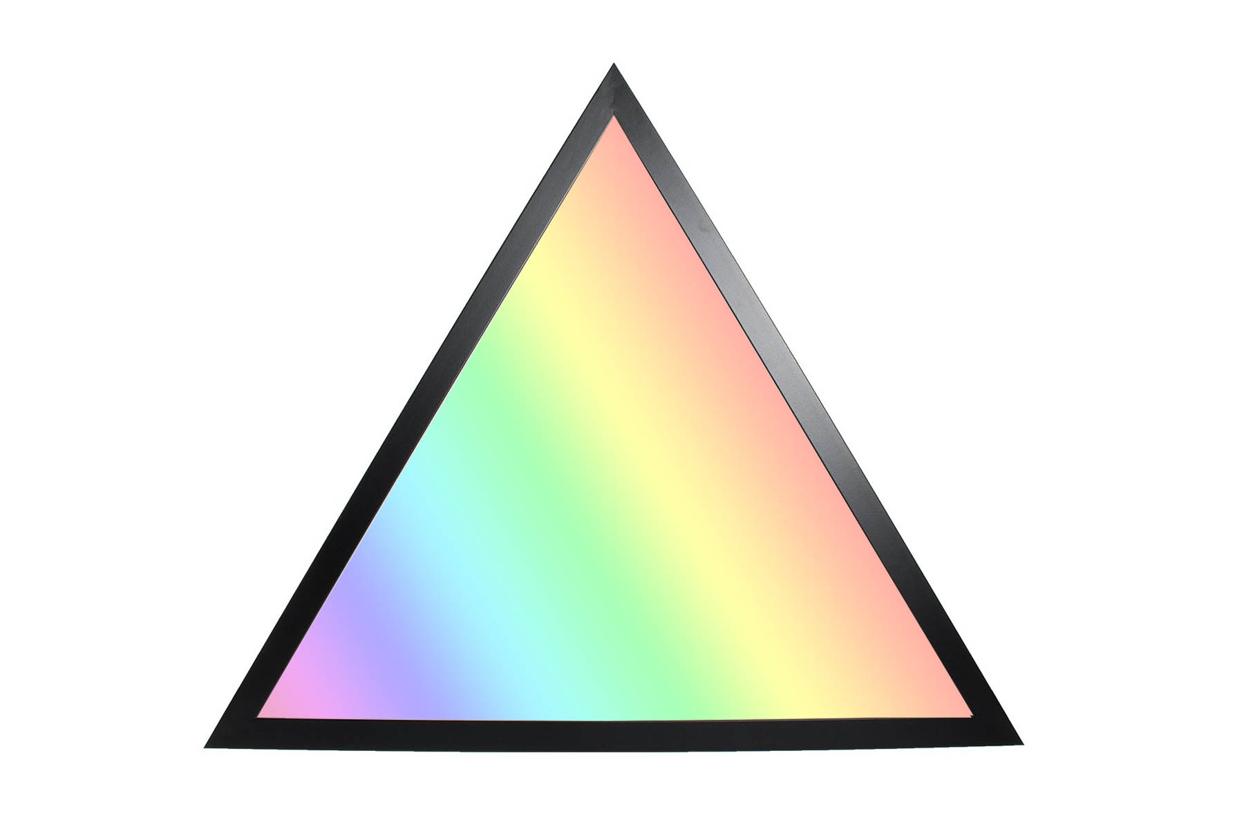 RGB+CCT LED Panel Dreieck 60cm 36W 24V Rahmen schwarz