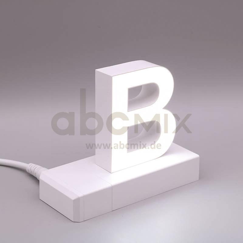Leuchtbuchstabe EasyClick B 75mm Arial 4000K weiß
