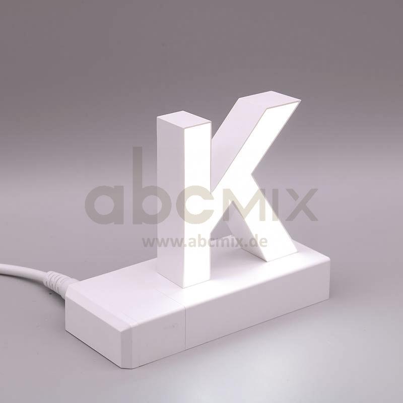 Leuchtbuchstabe EasyClick K 75mm Arial 4000K weiß