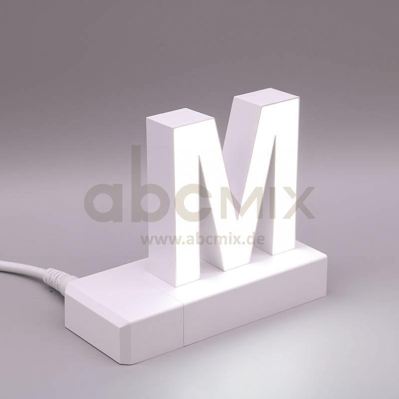 Leuchtbuchstabe EasyClick M 75mm Arial 4000K weiß