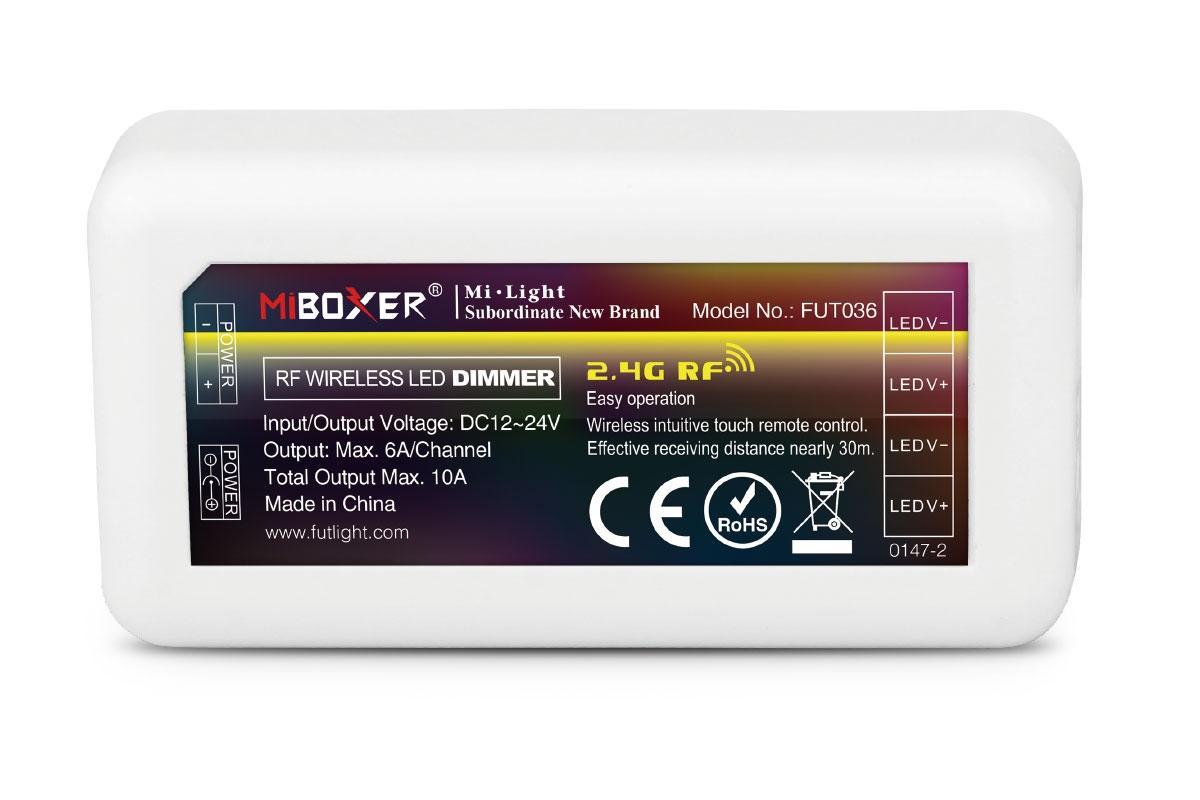 MiBoxer LED Controller/Dimmer 1 Kanal 12/24V LED Strip Panel Steuerung FUT036