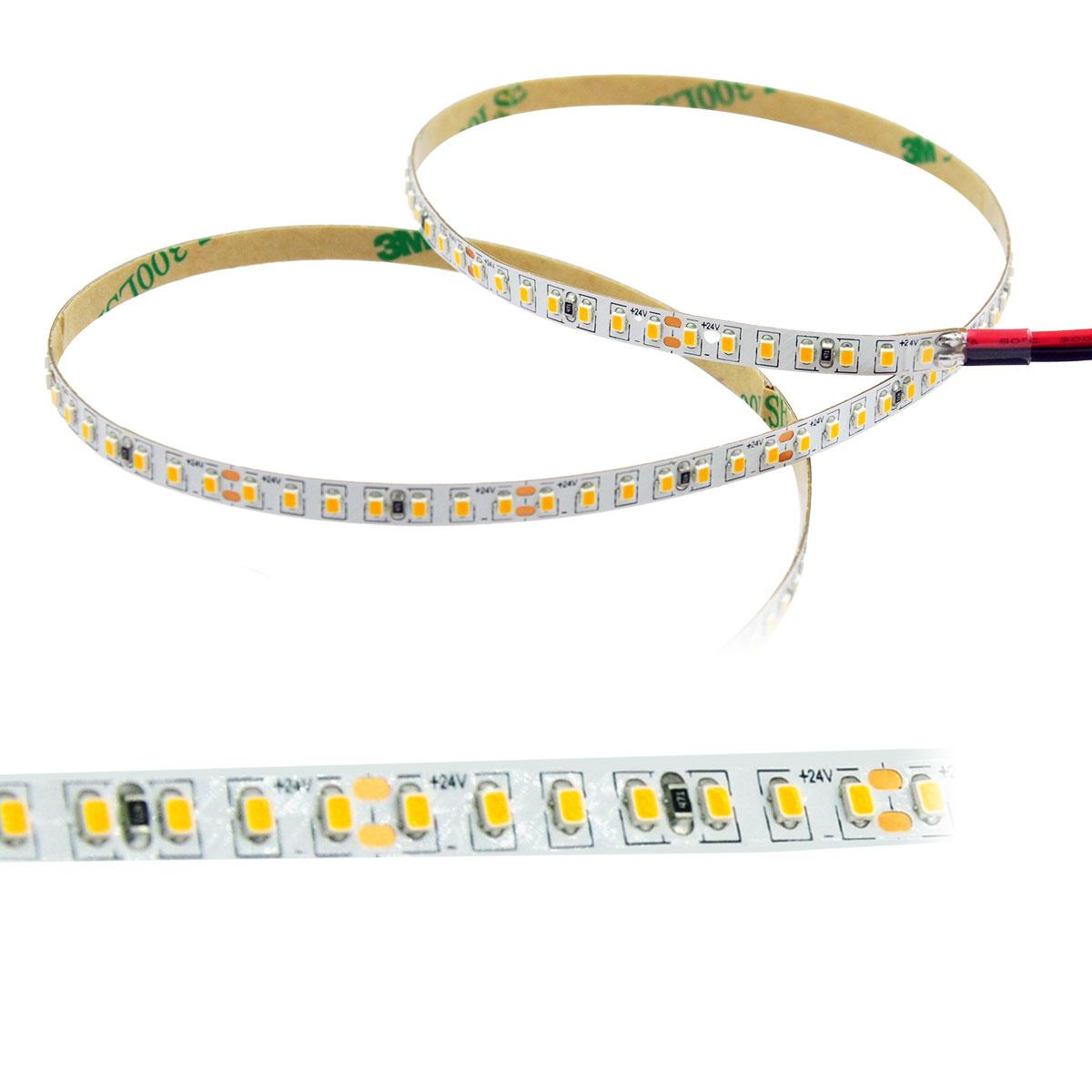 Strip Warmweiß 24V LED Streifen 5M 8W/m 224LED/m 5mm IP20 3000K