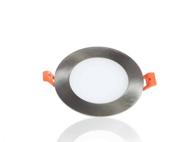 LED Panel Einbaustrahler silber 6W Ø120mm 5500K dimmbar