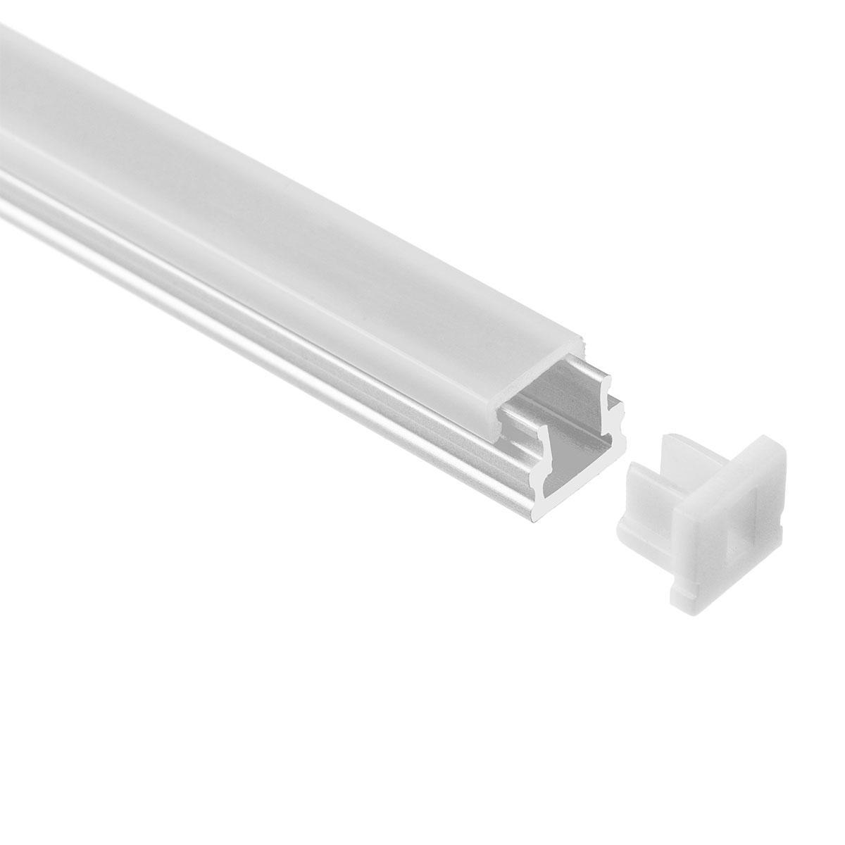 LED Aufbau U-Profil eloxiert 8 x 7,8mm opal 200cm