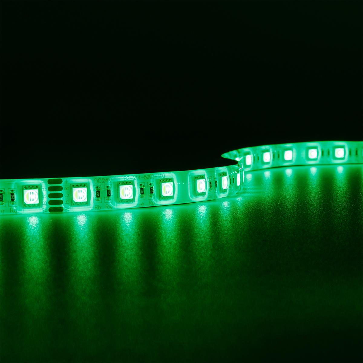 Strip RGBW 24V LED Streifen 5M 15W/m 60LED/m 12mm IP65 Farbwechsel RGB+3000K