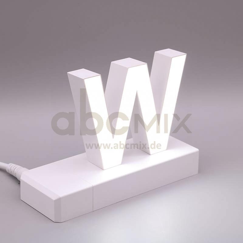 Leuchtbuchstabe EasyClick W 75mm Arial 4000K weiß