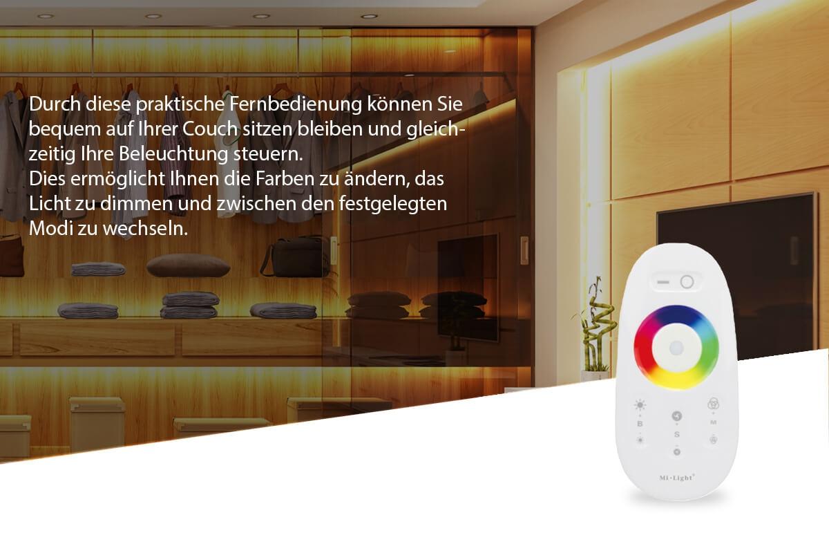MiBoxer Set Controller & Fernbedienung RGB | Dimmen Schalten Farbsteuerung