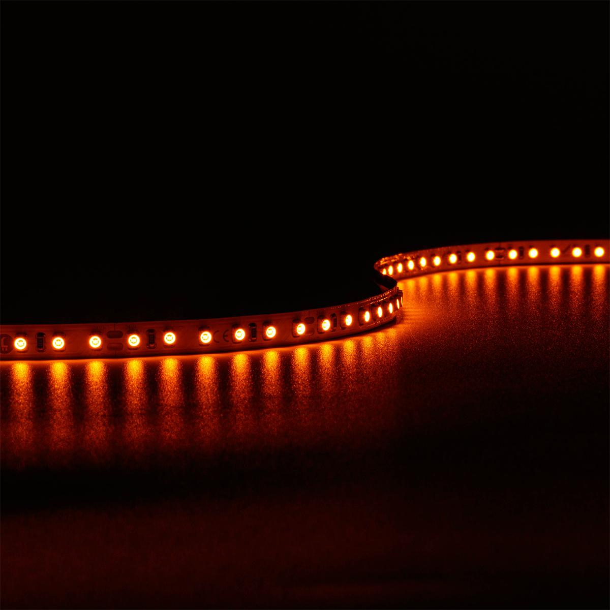 Strip Amber Bernstein 24V LED Streifen 9,6W/m 120LED/m IP20 2300K