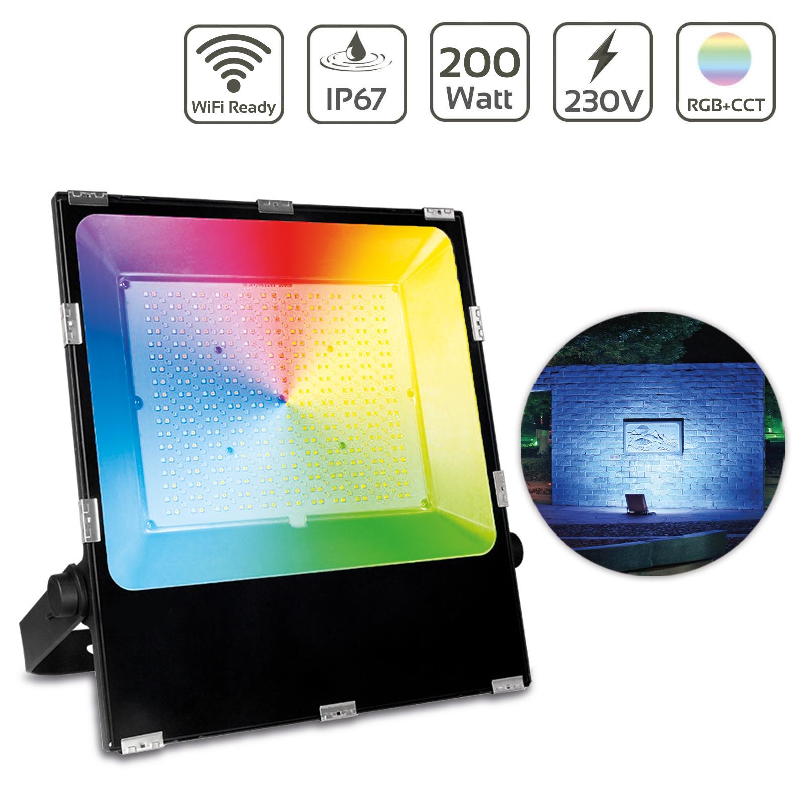 MiBoxer 200W RGB+CCT LED Außenstrahler WiFi Farbwechsel Fluter FUTT08
