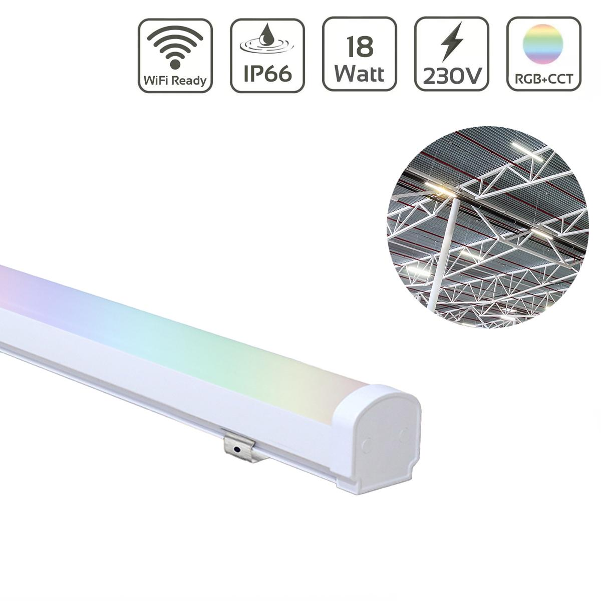 MiBoxer 18W RGB+CCT LED Linear Light WiFi Feuchtraumleuchte 230V IP66 LL-1018