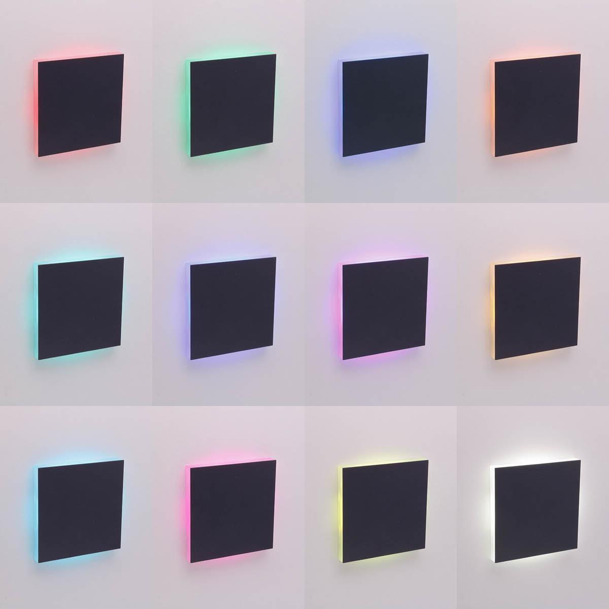 LED Treppenlicht Wandeinbauleuchte Smart Tuya RGB+CCT 230V 5W schwarz Lichtaustritt seitlich