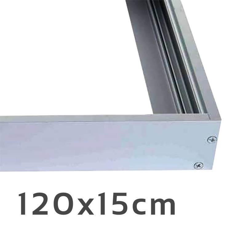 LED Panel Aufbaurahmen Classic 120x15cm silber Aufputz Montagerahmen