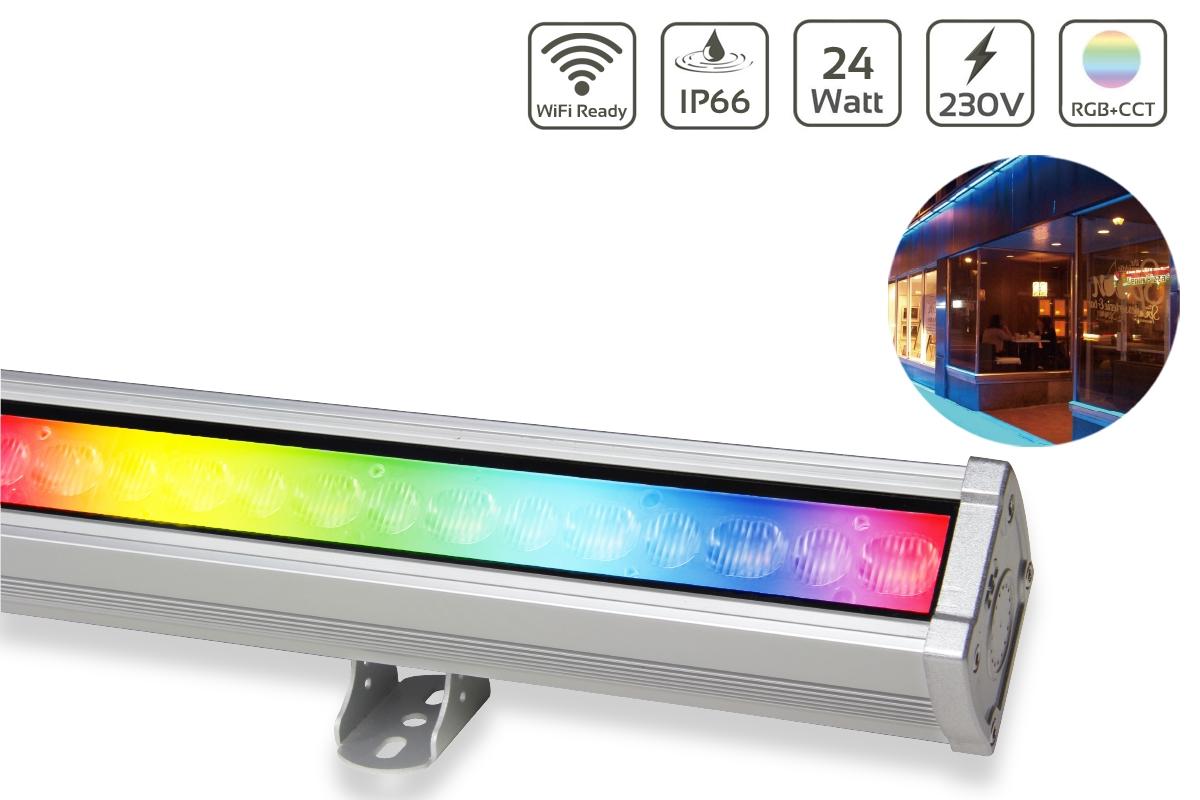 MiBoxer 24W RGB+CCT LED Wallwasher WiFi Fassadenstrahler 230V IP66 RL1-24