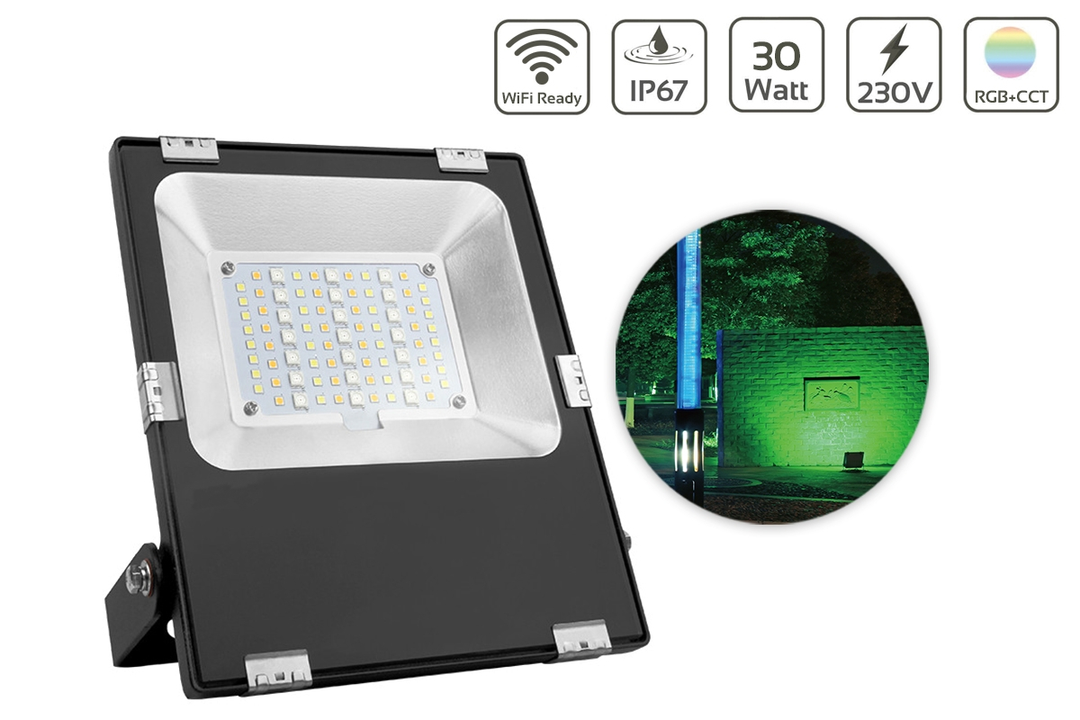 MiBoxer 30W RGB+CCT LED Außenstrahler WiFi Farbwechsel Fluter FUTT03
