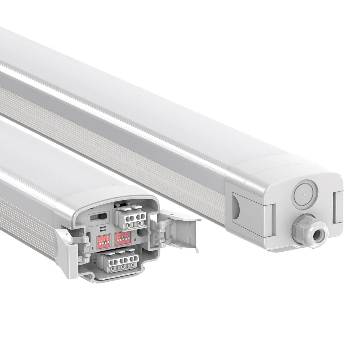 LED Feuchtraumleuchte PRO+ 120cm 40W CCT mit Bewegungsmelder