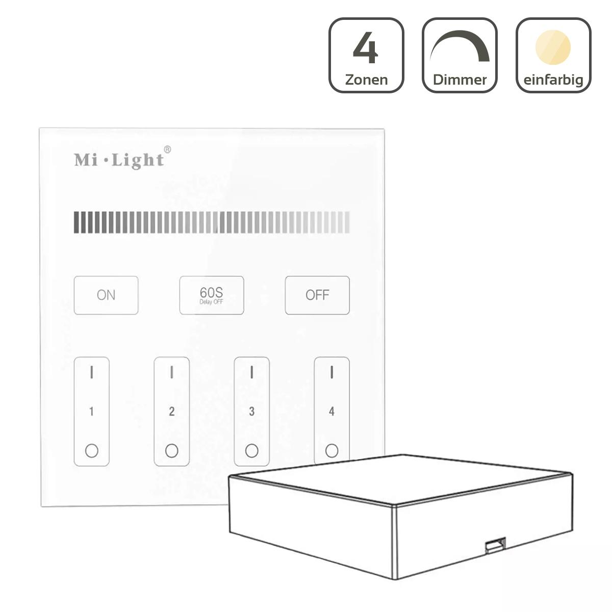 MiBoxer Wandschalter 4 Zonen Aufbau Dimmen Schalten batteriebetrieben B1