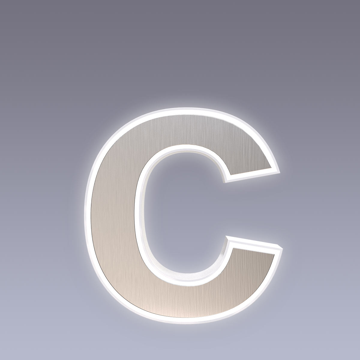 Cover für 15cm Hausnummer c Edelstahl Arial selbstklebend