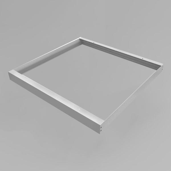 LED Panel Aufbaurahmen Classic 60x60cm silber Aufputz Montagerahmen
